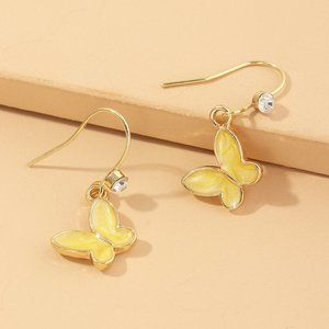3/$20 New Gold & Yellow Butterfly Earrings